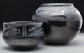 American Indian Art:Pottery, Two San Ildefonso Blackware Jars. Desideria Montoya Sanchez...(Total: 2 Items)