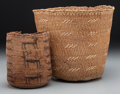 Other, Two West Coast Twined Basketry Items... (Total: 2 Items)