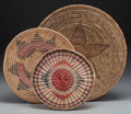 American Indian Art:Baskets, Three Southwest Basketry Trays... (Total: 3 Items)