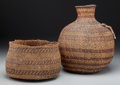American Indian Art:Baskets, Two Paiute or Havasupai Twined Basketry Items... (Total: 2 Items)
