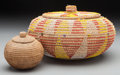 American Indian Art:Baskets, Two Ethnographic Lidded Baskets... (Total: 2 Items)