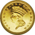 Proof Gold Dollars: , 1887 G$1 PR61 Cameo ANACS. One of the more available of the proof gold dollars, this issue is scarce as a proof, and few of...
