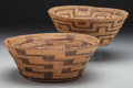 American Indian Art:Baskets, Two Pima/Papago Coiled Bowls... (Total: 2 Items)