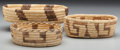 American Indian Art:Baskets, Three Papago Coiled Bowls ... (Total: 3 Items)