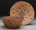 American Indian Art:Baskets, Two Southwest Coiled Items. c. 1900... (Total: 2 Items)