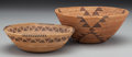 American Indian Art:Baskets, Two Yokuts Coiled Bowls ... (Total: 2 Items)