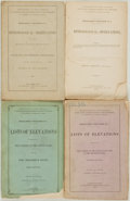 Books:Natural History Books & Prints, Henry Gannett and George B. Chittenden. Group of Four Publications from the U.S. Geological Survey of the Territories. Washi... (Total: 4 Items)