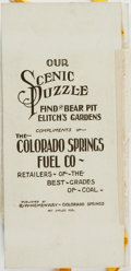 Books:Americana & American History, [The Colorado Springs Fuel Co.]. Our Scenic Puzzle: Find theBear Pit Elitch's Gardens. Colorado Springs: R. W. Heme...