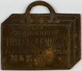 Books:Furniture & Accessories, [Colorado Memorabilia]. Metal Fob from Colorado Hotel Lennox. Circa1900. ...
