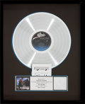 Music Memorabilia:Awards, Stevie Ray Vaughan and Double Trouble Soul to Soul RIAAHologram Platinum Record Sales Award (Epic AL 40036, 1985)...