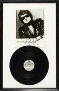 "Music Memorabilia:Recordings, Roy Orbison Original RCA Acetate for ""The Loner"" in Framed Displaywith Signed Photo...."