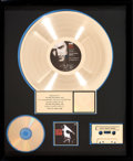 Music Memorabilia:Awards, U2 Rattle and Hum RIAA Gold Record Award (IslandST-IL-887165, 1988). ...