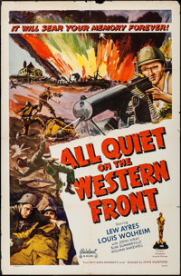 "All Quiet on the Western Front (Realart, R-1950). One Sheet (27"" X 41""). Academy Award Winners"