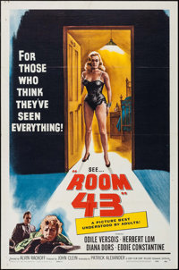 """Room 43 (Cory Film Corp., 1959). One Sheet (27"""" X 41"""") Style B. Thriller"""