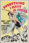"""Movie Posters:Musical, Everything I Have Is Yours & Others Lot (MGM, 1952). One Sheets (2) (27"""" X 41""""). Musical.. ... (Total: 2 Items)"""