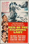 "Movie Posters:War, Men of the Fighting Lady & Other Lot (MGM, 1954). One Sheets(2) (27"" X 41""). War.. ... (Total: 2 Items)"
