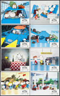 """Movie Posters:Animation, Bon Voyage, Charlie Brown (Paramount, 1980). Lobby Card Set of 8(11"""" X 14""""). Animation.. ... (Total: 8 Items)"""