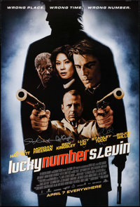"""Lucky Number Slevin (MGM, 2006). Autographed One Sheet (27"""" X 40"""") DS Advance. Crime"""