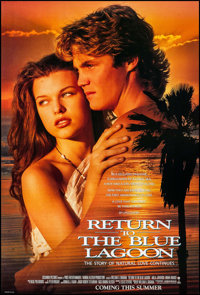 "Return to the Blue Lagoon (Columbia, 1991). One Sheets (50) Identical (26.75"" X 39.5"") DS. Drama. ... (Total:..."