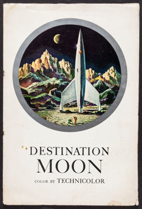 "Destination Moon (Pathé, 1950). Uncut Pressbook (32 Pages, 13.5"" X 20.25""). Science Fiction"