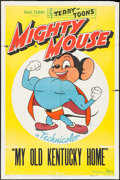 "Movie Posters:Animation, Mighty Mouse (20th Century Fox, 1943). Stock One Sheet (27"" X 41"") ""My Old Kentucky Home."" Animation.. ..."