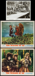 "Movie Posters:Fantasy, The Wizard of Oz (MGM, R-1955/R-1970). Lobby Cards (2) (11"" X 14"") & Photo (8"" X 10""). Fantasy.. ... (Total: 4 Items)"