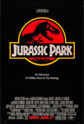 "Movie Posters:Science Fiction, Jurassic Park (Universal, 1993). One Sheet (27"" X 40"") SS Advance. Science Fiction.. ..."
