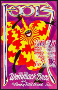 "Movie Posters:Rock and Roll, The Fools at Armadillo World Headquarters (AWH, 1977). Mardi Gras Concert Poster (10.25"" X 17""). Rock and Roll.. ..."