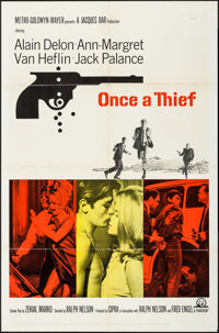 "Once a Thief (MGM, 1965). One Sheet (27"" X 41"") & Lobby Card Set of 8 (11"" X 14""). Crime. ... (T..."
