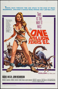 "One Million Years B.C. (20th Century Fox, 1966). One Sheet (27"" X 41"") & Pressbook (16 Pages, 9"" X 13..."