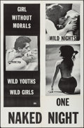 """Movie Posters:Exploitation, One Naked Night & Other Lot (V & N Associates, 1965). OneSheets (2) (27"""" X 41"""") & Photos (8) (8"""" X 10""""). Exploitation..... (Total: 10 Items)"""