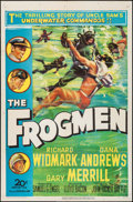 "Movie Posters:War, The Frogmen (20th Century Fox, 1951). One Sheet (27"" X 41""). War....."