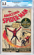 Silver Age (1956-1969):Superhero, The Amazing Spider-Man #1 UK Edition (Marvel, 1963) CGC VG- 3.5Cream to off-white pages....