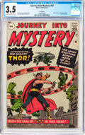 Silver Age (1956-1969):Superhero, Journey Into Mystery #83 UK Edition (Marvel, 1962) CGC VG- 3.5Off-white to white pages....