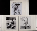 Baseball Collectibles:Photos, Baseball Greats Signed Photographs and Letters Lot of 11....