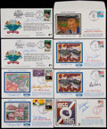 Baseball Collectibles:Others, Dodgers Greats Signed First Day Covers Lot of 8....