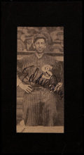 Baseball Collectibles:Photos, Eddie Collins Signed Newspaper Photograph....