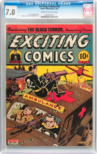 Exciting Comics #31 (Nedor/Better/Standard, 1944) CGC FN/VF 7.0 Cream to off-white pages