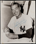 Autographs:Bats, Joe DiMaggio Signed Vintage Photograph....
