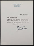 Miscellaneous Collectibles:General, 1971 Norman Rockwell Signed Letter....
