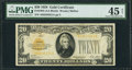 Small Size:Gold Certificates, Fr. 2402 $20 1928 Gold Certificate. PMG Choice Extremely Fine 45 Net.. ...