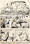 Original Comic Art:Splash Pages, Jerry Grandenetti and Creig Flessel Prez #4 Splash Page 3Original Art (DC, 1974)....
