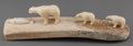 American Indian Art:Wood Sculpture, An Eskimo Carved Walrus Ivory Vignette...
