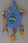American Indian Art:Beadwork and Quillwork, A Sioux Beaded Hide Fetish...