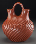 American Indian Art:Pottery, A Jemez Carved Redware Jar. Alvina Yepa...