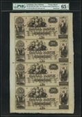 Obsoletes By State:Louisiana, New Orleans, LA- Canal Bank $20-$20-$20-$20 18__ Uncut Sheet...