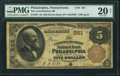 National Bank Notes:Pennsylvania, Philadelphia, PA - $5 1882 Brown Back Fr. 467 The Consolidation NBCh. # 561. ...
