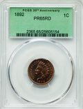 Proof Indian Cents: , 1892 1C PR65 Red PCGS. PCGS Population (43/15). NGC Census: (15/14). Mintage: 2,745. Numismedia Wsl. Price for problem free...