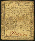 Colonial Notes:Pennsylvania, Pennsylvania April 10, 1777 4d Fine.. ...