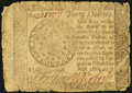 Colonial Notes:Continental Congress Issues, Continental Currency September 26, 1778 $40 Fine.. ...